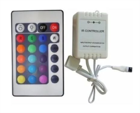 Fita Led 5050 Ultra Rgb A Prova D'água Com Controle Remoto