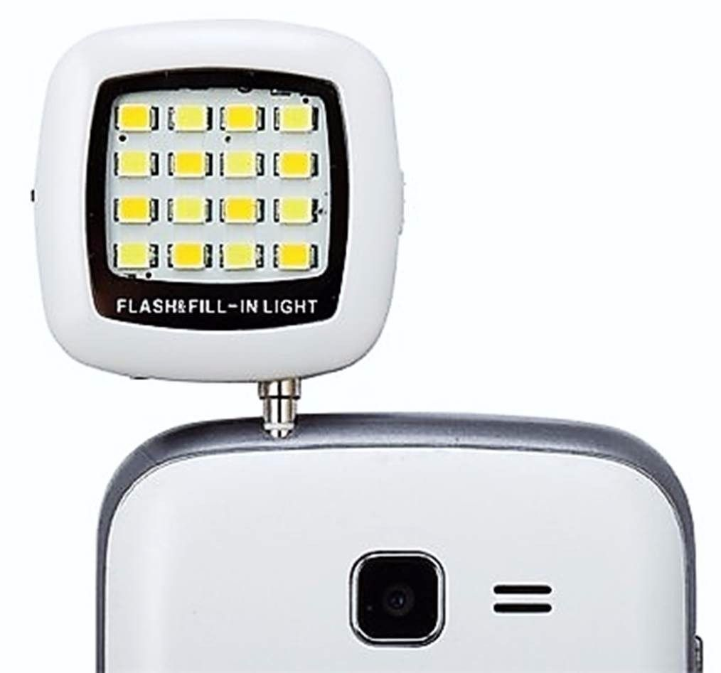 Flash Selfie Celular 16 Leds Câmera Frontal Universal P2