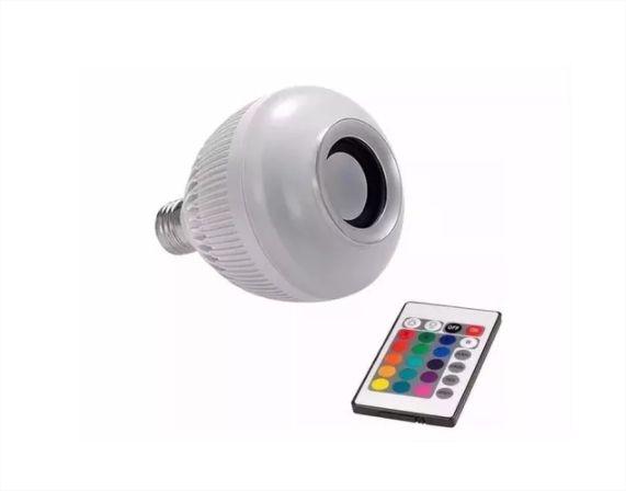 Lâmpada Led Bluetooth Musical Caixa Som E27 Bivolt