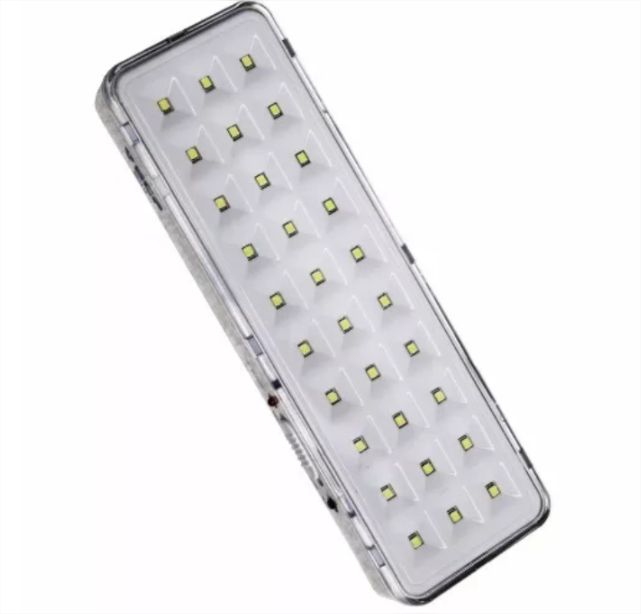 Lâmpada Luminária Luz Emergência Recarregável 30 Leds Bivolt