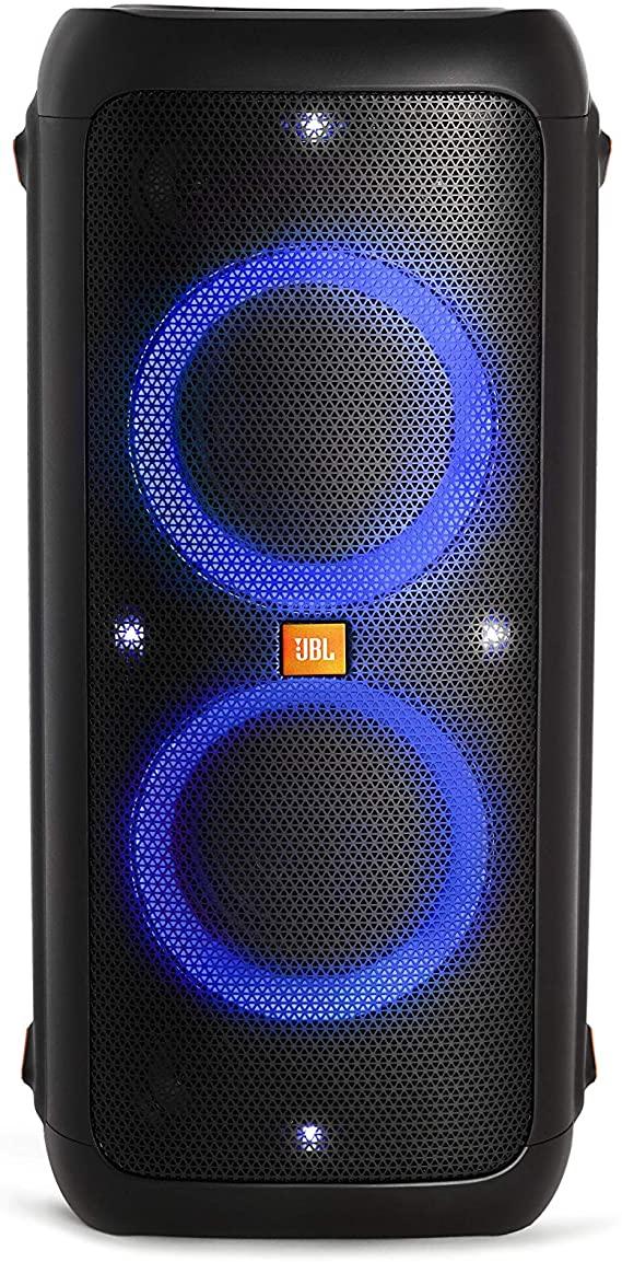 Caixa de Som Portátil JBL com Bluetooth e Efeitos de Luzes Party Box 300