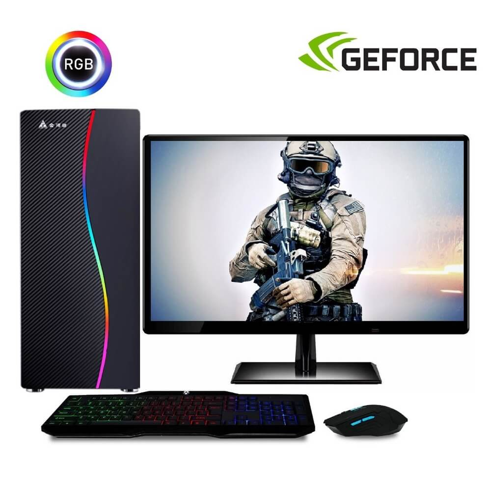Computador Gamer Completo Com Monitor Led Intel Core I5 8gb Hd 500gb (nvidia Geforce Gt 2gb) Kit Gamer Easypc Stronger