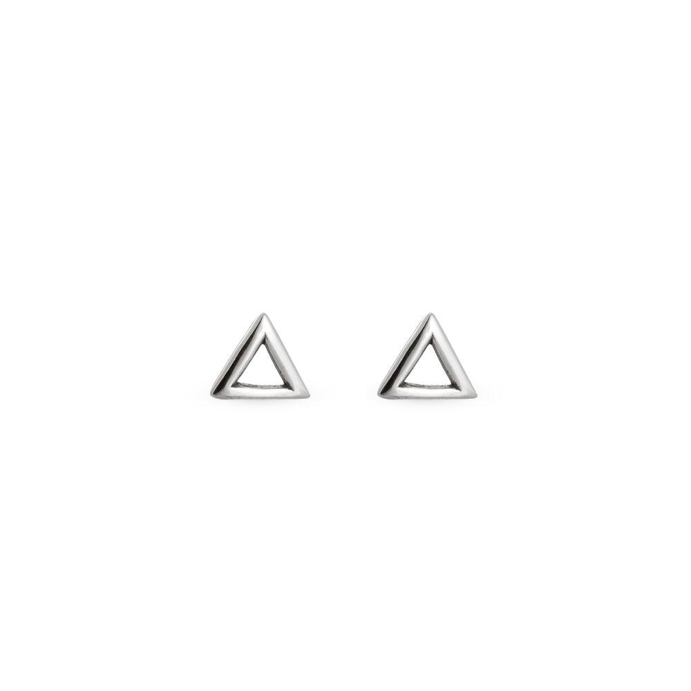 Brinco Mini Triângulo Vazado