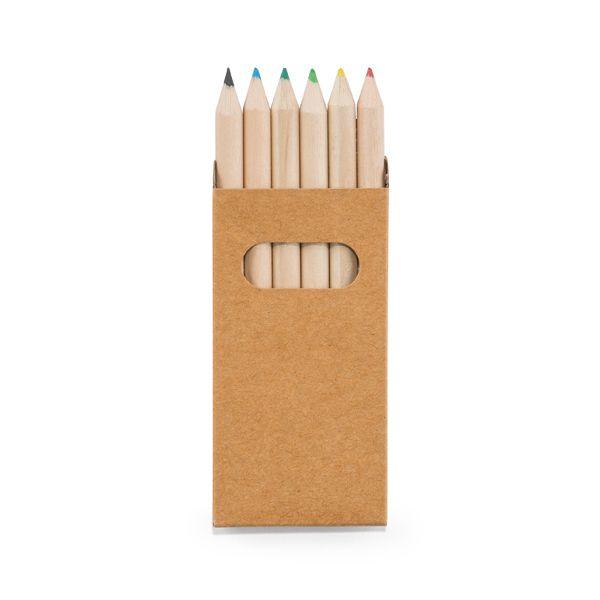 Caixa de Cartão com 6 Mini Lápis de Cor REF.: 91750
