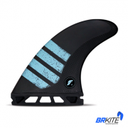 FUTURES - QUILHAS F8 ALPHA C/5 FINS LARGE CARBON GREEN