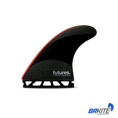 FUTURES - QUILHAS JJ2 TECHFLEX THRUSTER C/3 LARGE BLACK/BRIGHT RED
