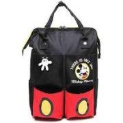 Bolsa Mochila G Mickey Mouse Disney Vintage Preta - Dermiwil