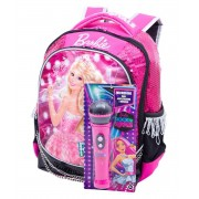 Kit Mochila Escolar Barbie + Microfone