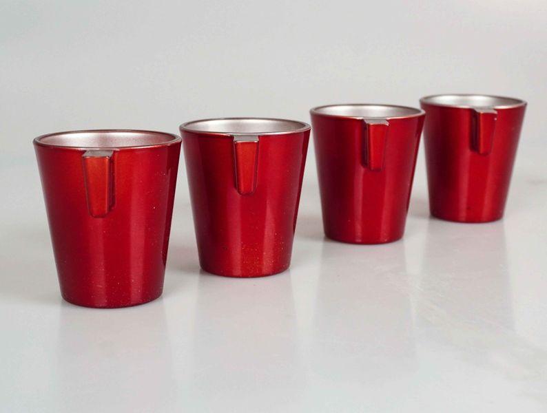 Conjunto De Xícaras Para Café Marcamix C/4 Expresso Red Berry - 80ml