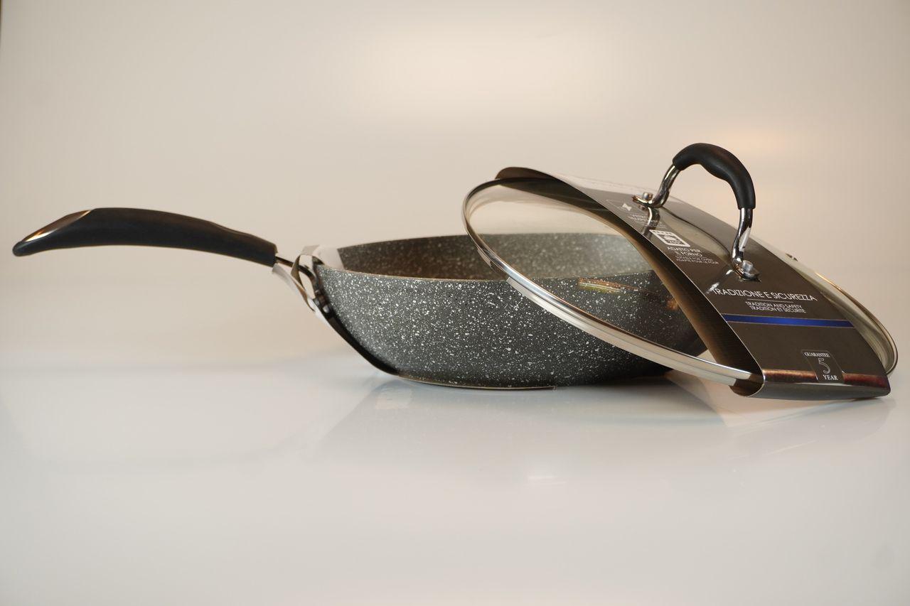 Frigideira Styr Frypan Em Aço Inox Bialetti C/ Tampa De Vidro