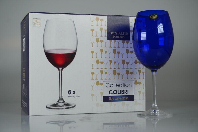 Jogo De Taças Água Rojemac C/6 Uni, 580ml Azul - Collection Colibri