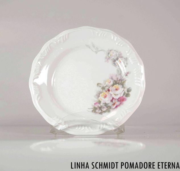 Prato Sobremesa Schmidt Pomerode Decoração Eterna 19cm