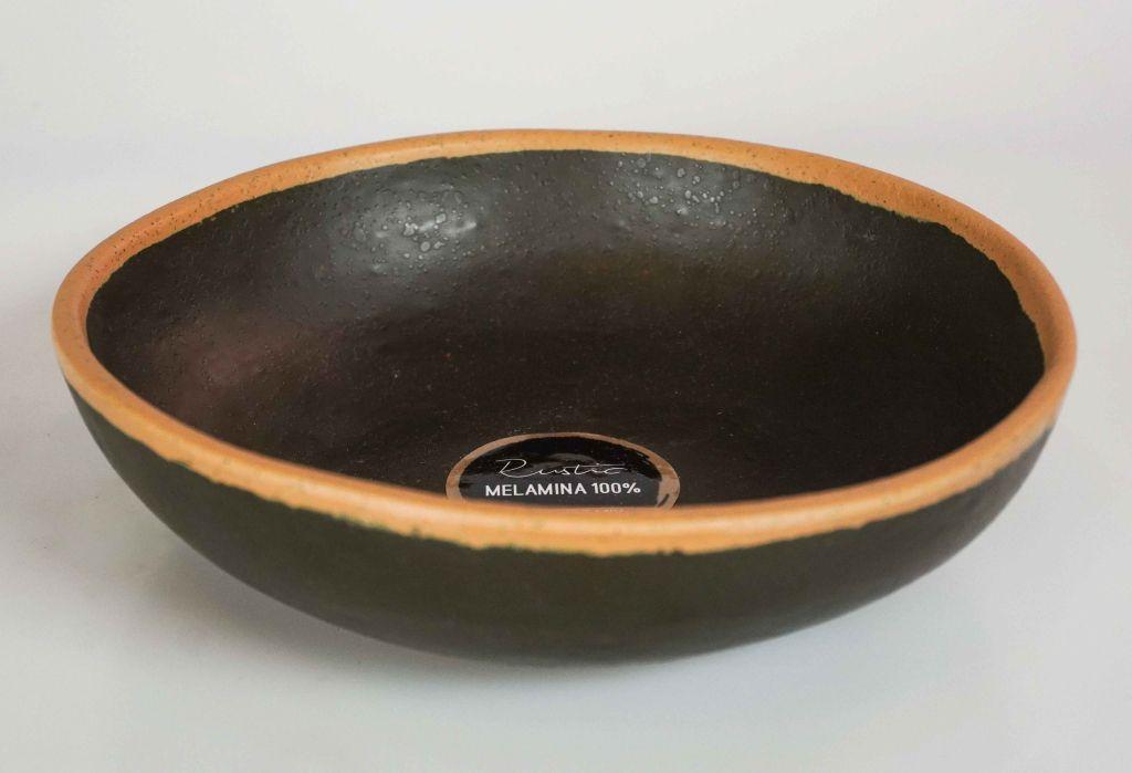 Tigela Marcamix Rustic Melanina Redonda Rasa de 16cm
