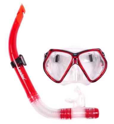 Kit Leader Máscara e Snorkel - Vermelho