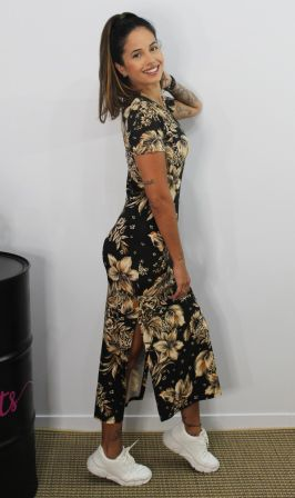 Vestido Midi Floral With Love V.A