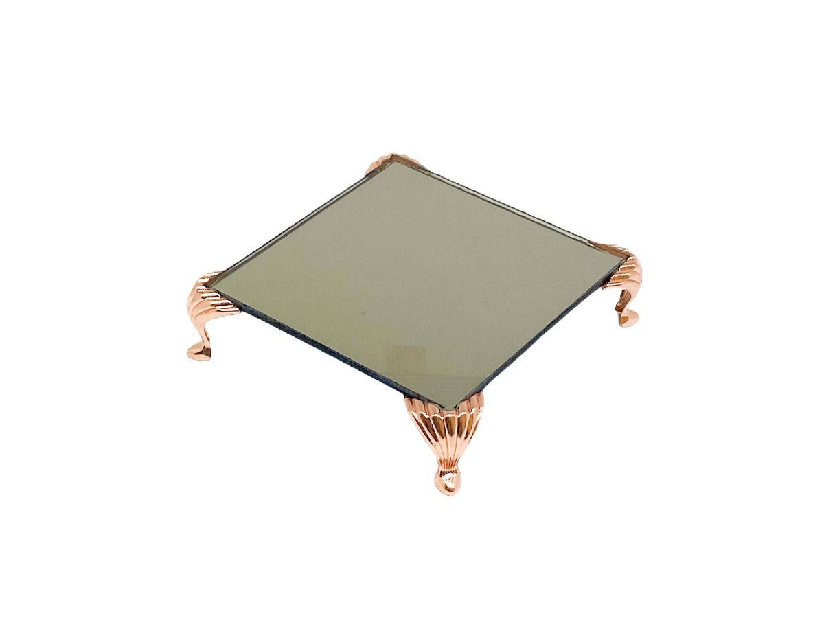 Bandeja Espelhada Itália Bronze Luxo,lavabo,decoração 10x10