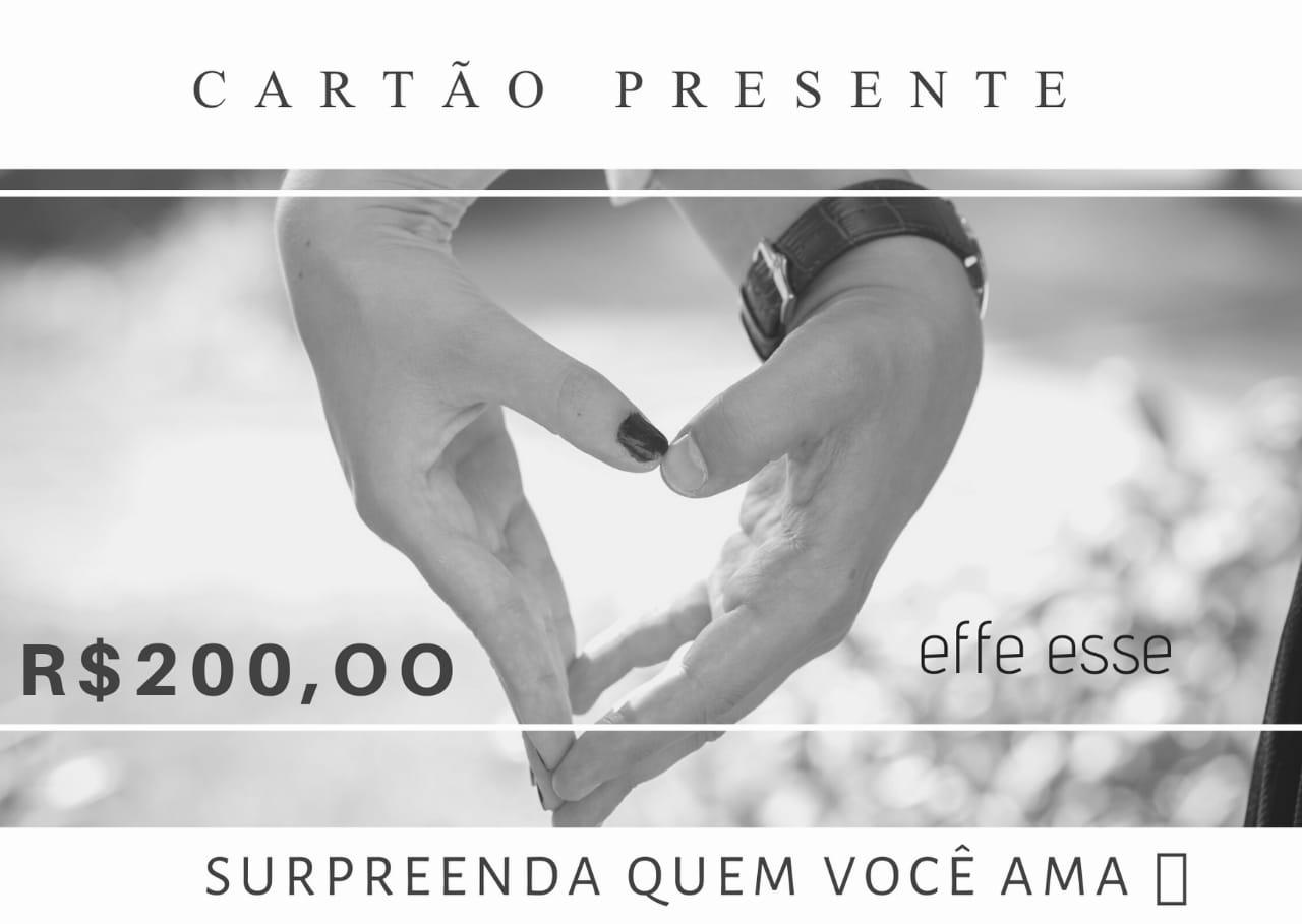 Cartão Presente R$200,00  - U