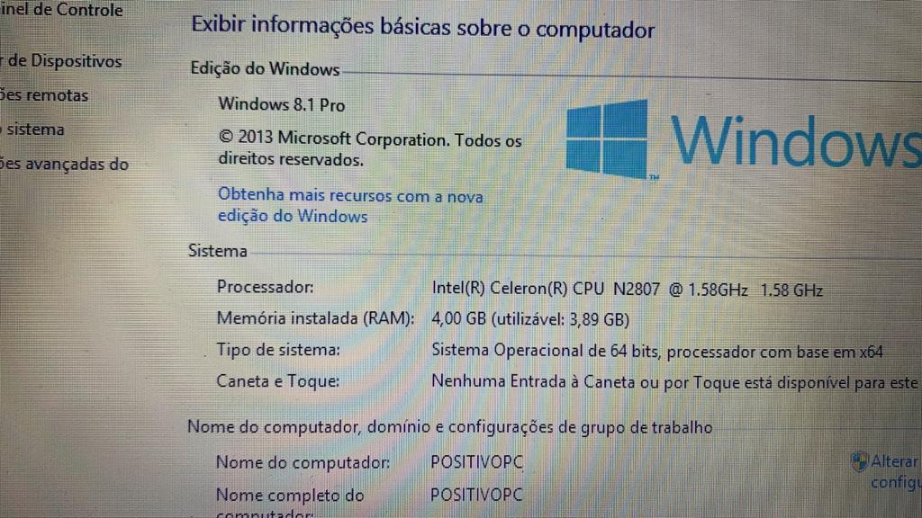 Positivo Master N30L Intel Celeron Inside 4 GB memória e 320 GB disco rígido