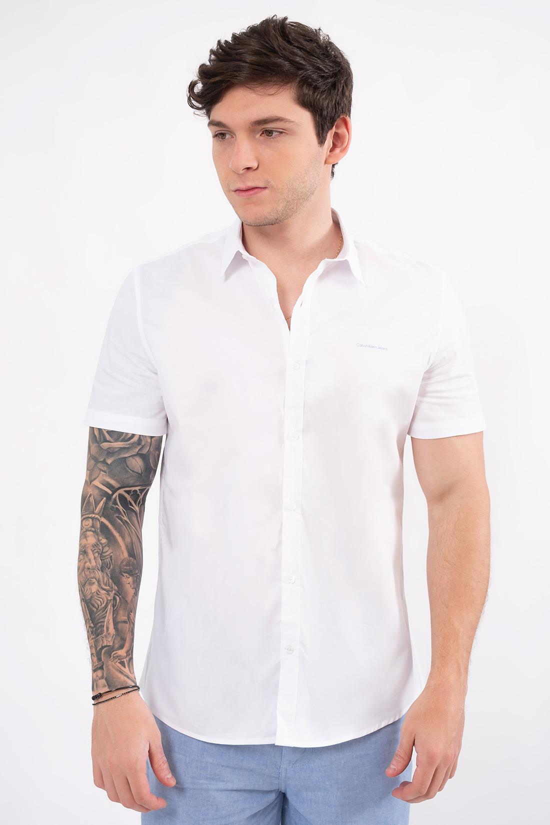 Camisa Mc Calvin Klein Slim Logo Peito