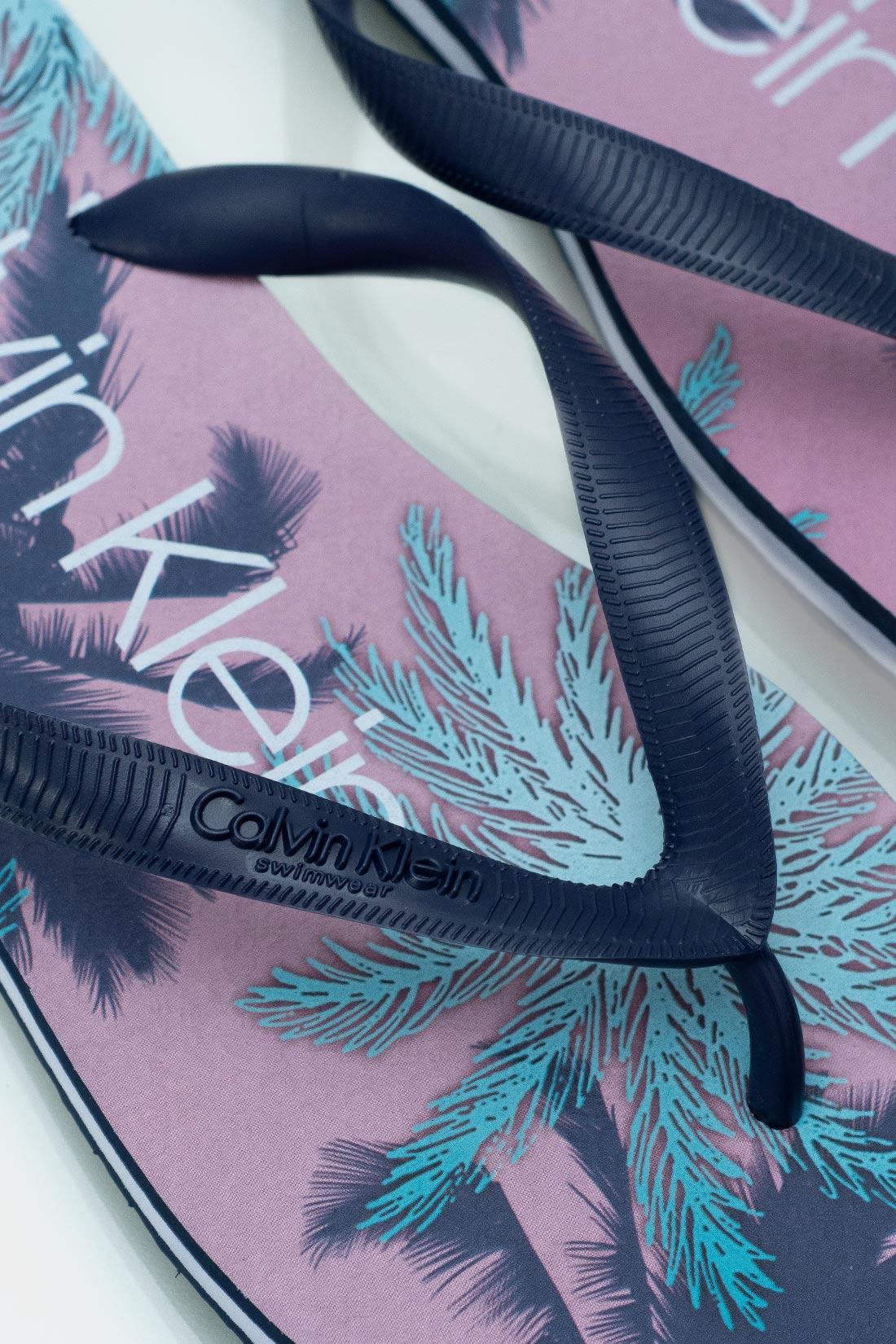 Chinelo Calvin Klein Swim Estampado