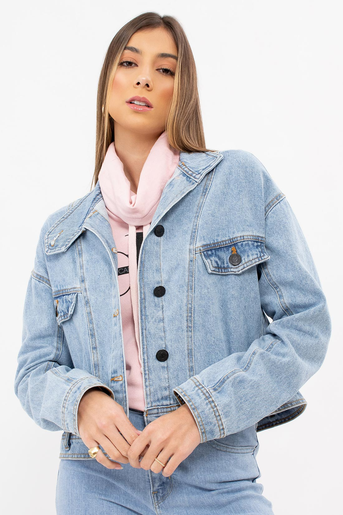 Jaqueta Hering Jeans Botoes