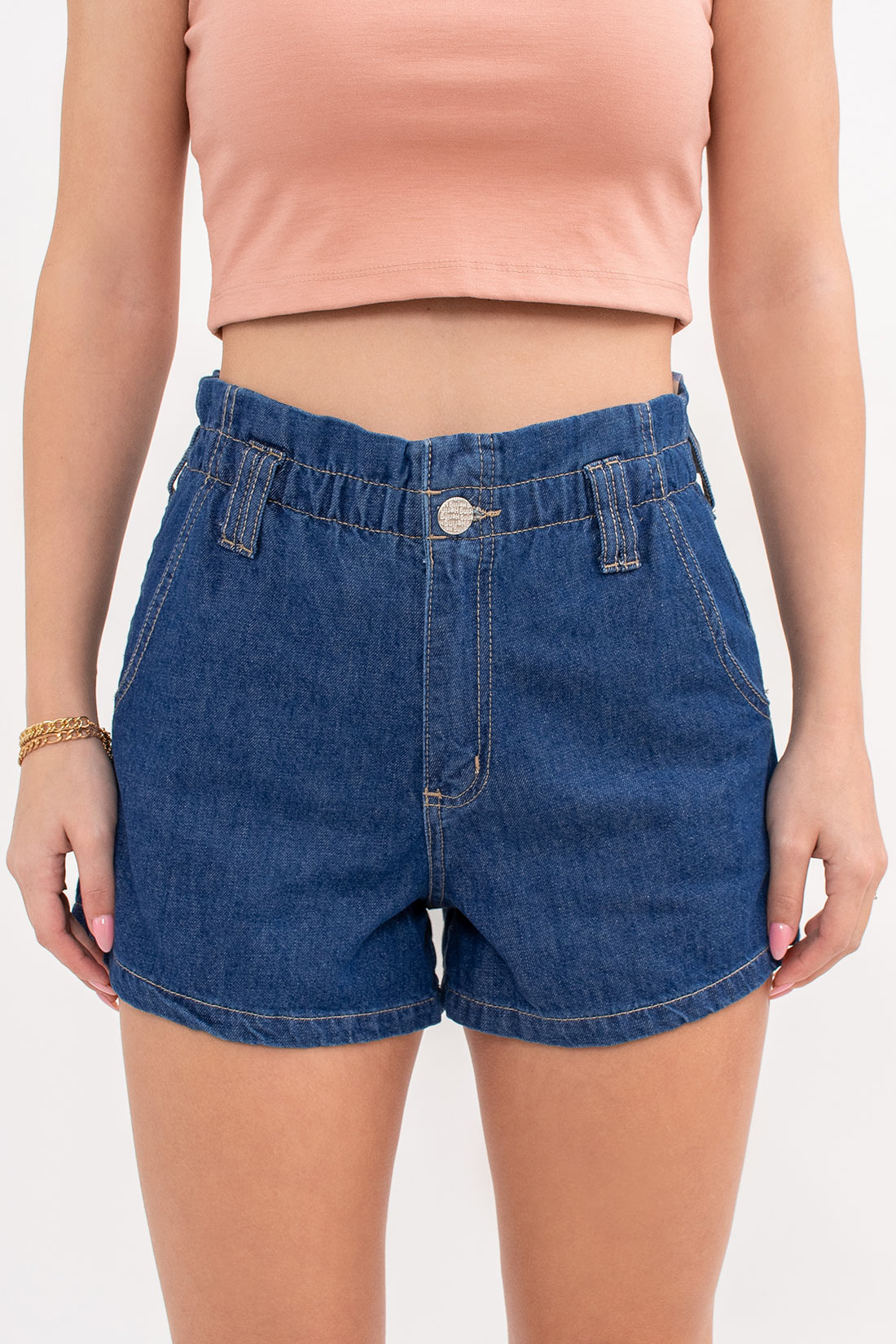Shorts Jeans Hering Elastico