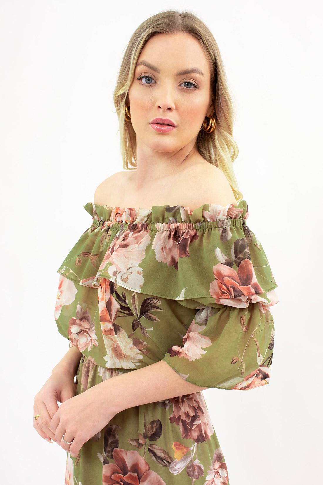 Vestido Ombro A Ombro Maite Floral