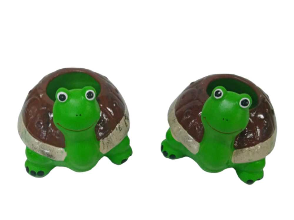 Bichos para decoração de Jardim e Quintal Kit 2 Tartarugas