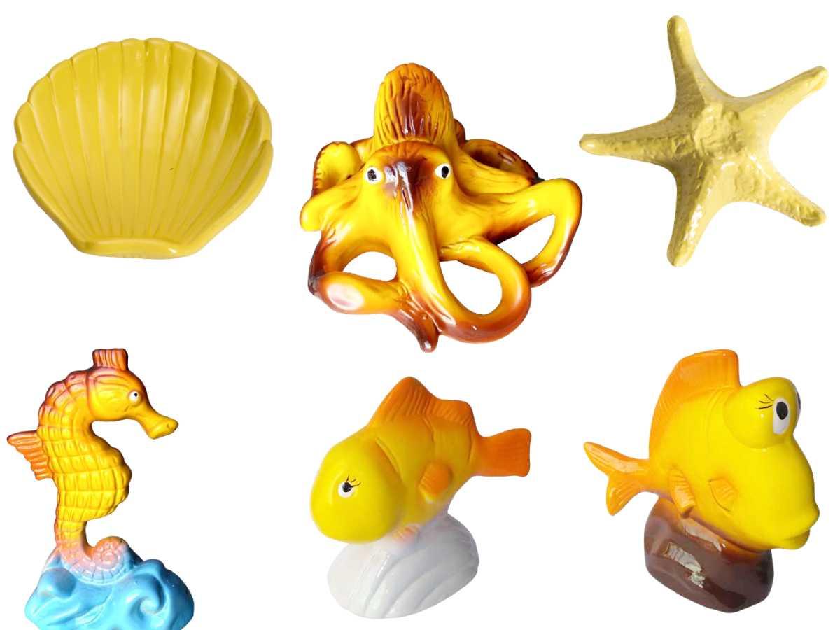 Kit Fundo do Mar decoração para festas jogo com 6 Peças