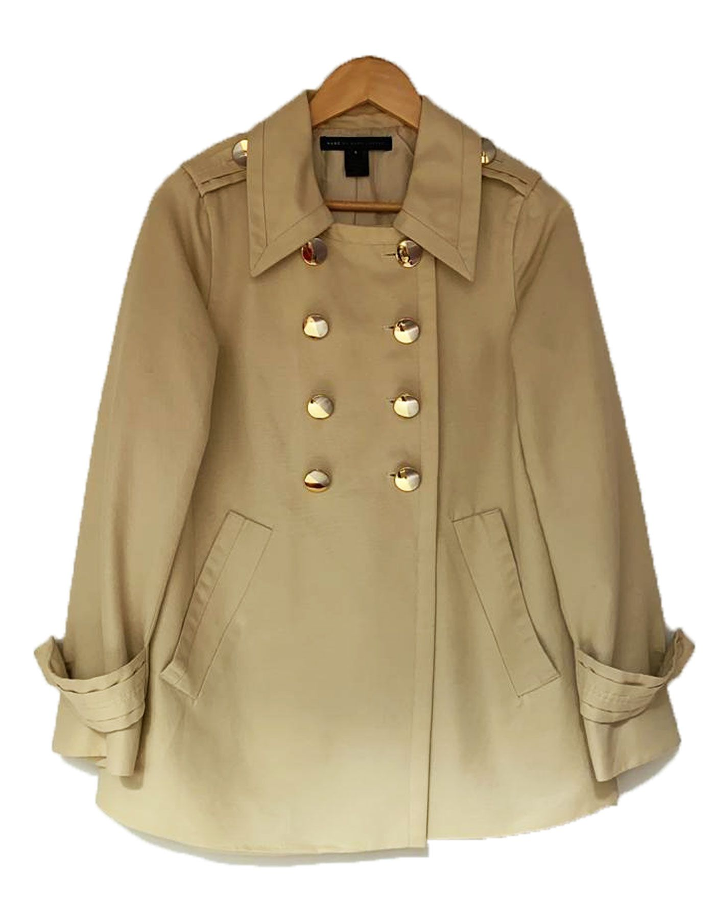 TRENCH COAT MARC JACOBS CAQUI DET BOTOES SIZE SMALL