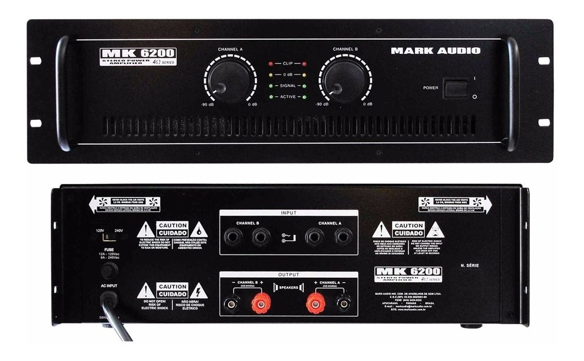 AMPLIFICADOR MARK AUDIO MK 6200