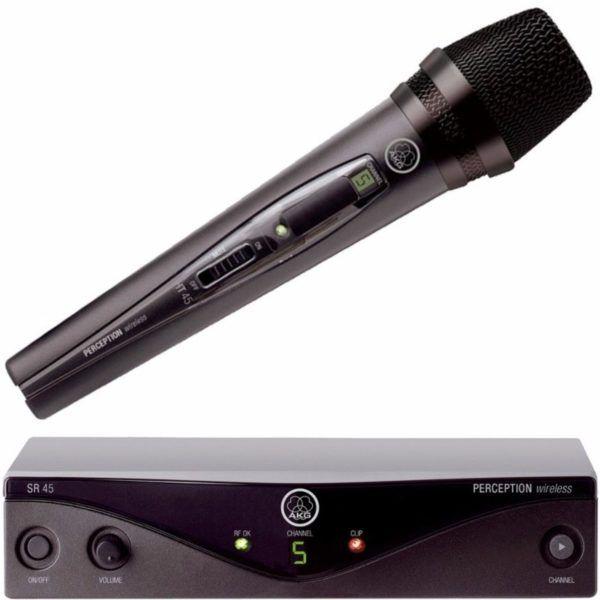 MICROFONE SEM FIO VOCAL BANDA A PW-45 VSET - AKG