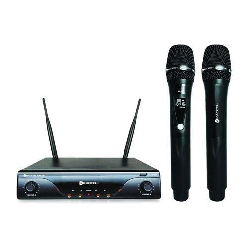 SISTEMA MICROFONE SEM FIO K-412M  NEW UHF DUPLO VOCAL - KADOSH