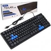 Teclado USB Gamer KP-2044 Knup Com Fio Pc Notebook Teclas Silenciosas