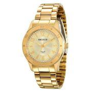 Relógio Seculus Feminino Dourado Long Life 28593LPSVDA1