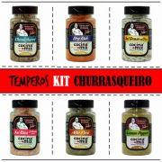 Kit Temperos - Churrasqueiro - 6 Potes