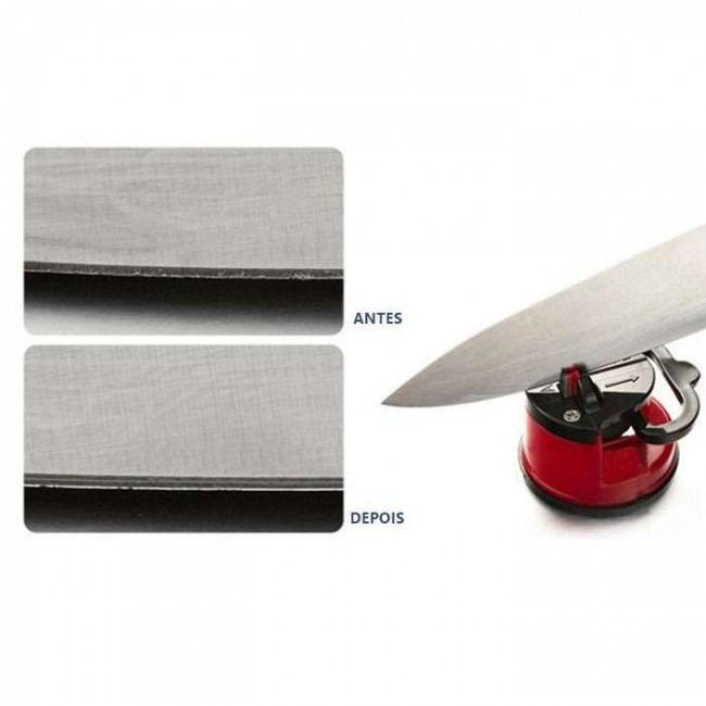 Afiador Amolador De Facas Tesoura Canivete Facão C/ Ventosa- 3BTR