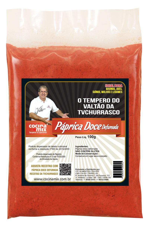 Páprica doce defumada 100g - Tempero Cocina Mix - Econômica