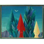 WALTER LEWY (Bad Oldesloe, Alemanha 1905 - São Paulo SP 1995) óleo sobre tela, 79x108cm, com moldura. Surreal, 1992.