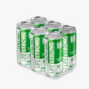 ENERGÉTICO LIFE STRONG - ULTRA ZERO - MAÇA VERDE - PACK COM 06