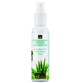 Desodorante Natural sem perfume 120ml LIVE