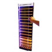 Kit 2un Expositor Jóias E Piercing Acrílico Led Parede E Piso 100cm - Estúdio Acrílicos