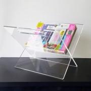 Kit 2un Porta Revistas Lovely - Organizador Acrílico - Estúdio Acrílicos
