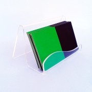 Kit 3un Porta Cartão De Visitas De Mesa Acrílico Cristal - Design