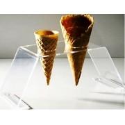 Kit 3un Porta Sorvete Casquinha Acrílico Pizza Cone Temaki Doces 2f - Estúdio Acrílicos