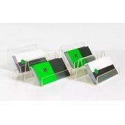 Kit 6un Porta Cartão De Visitas De Mesa Acrílico Cristal - Clean