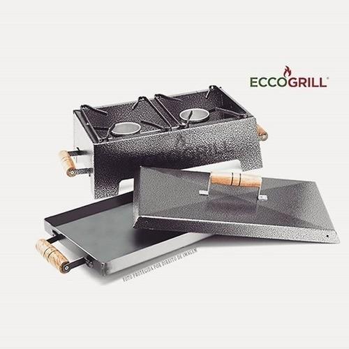 Churrasqueira A Álcool Eccogrill Completa Original S/ Fumaça
