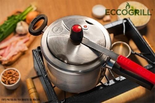 Kit 2un Churrasqueira Ecológica A Álcool Eccogrill Premium S/ Fumaça