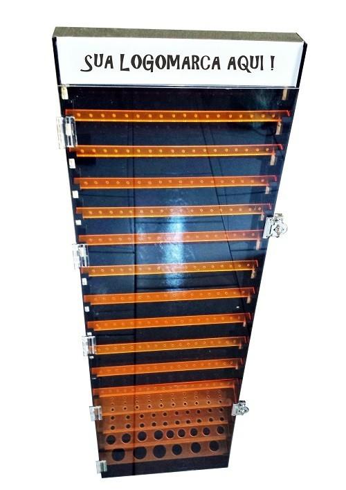 Kit 3un Expositor Jóias E Piercing Acrílico Led Parede E Piso 100cm - Estúdio Acrílicos