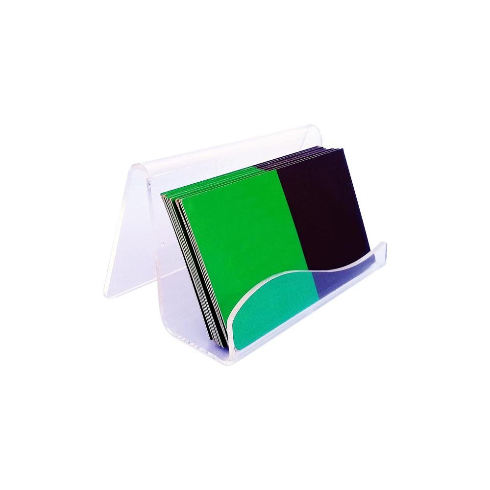 Porta Cartão De Visitas De Mesa Acrílico Cristal - Design